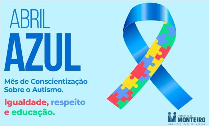 Abril Azul: Secretaria de Saúde de Monteiro destaca aconscientização sobre o Autismo