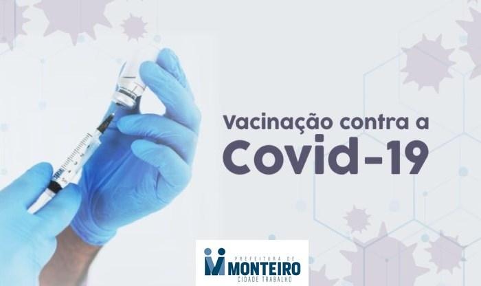 Em Monteiro: Idosos com idade de 60 a 64 anos recebem primeira dose da vacina a partir desta terça