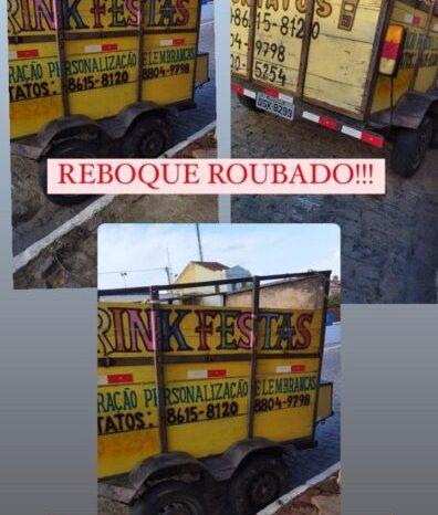 Criminosos roubam reboque nesta madrugada no centro de São João do Cariri