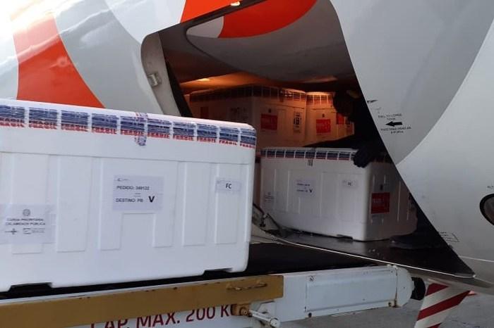 Paraíba distribui mais de 59 mil doses de vacinas contra a Covid-19 para municípios