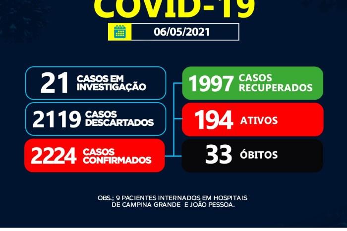 Sumé não registra casos de coronavírus nesta quinta-feira, 06