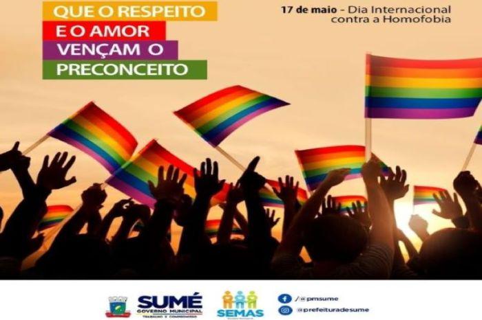 17 de maio: Veja as ações realizadas pela Prefeitura de Sumé na luta contra a LGBTFobia