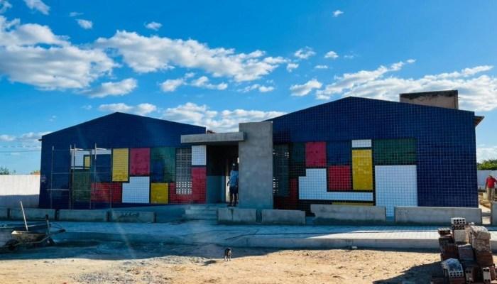 Obras da Escola Municipal de Ouro Velho seguem em ritmo acelerado