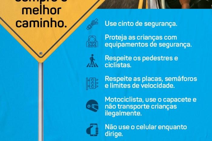 """Monteiro realiza """"Maio Amarelo"""" com campanha de conscientização nas ruas"""