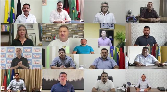 Prefeitos do Cariri fazem campanha de conscientização a Covid-19; veja o vídeo