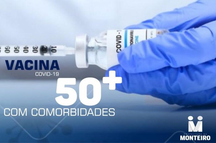 Secretaria de Saúde de Monteiro inicia vacinação contra Covid-19 para pessoas com comorbidades com 50 anos ou mais