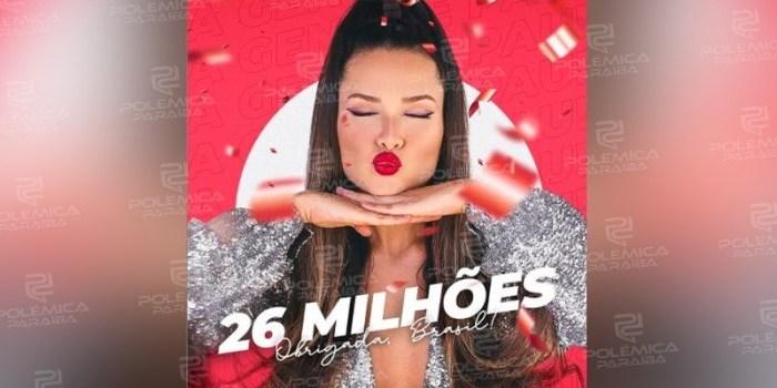 """Juliette atinge 26 milhões de seguidores e Tiago Leifert comenta: """"Putz errei o número"""""""