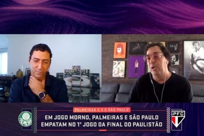 Casagrande e PVC batem boca ao vivo e ex-jogador resgata polêmica com Edmundo