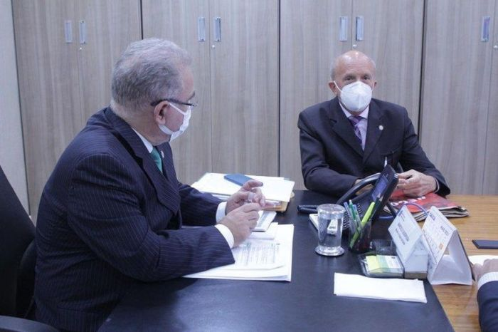 Em reunião com ministro da Saúde, Geraldo Medeiros reivindica respiradores e vacinação em massa para Paraíba