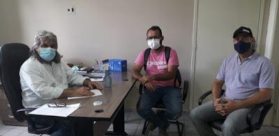 Prefeito Inácio Nóbrega se reúne com vice-prefeito Cícero e o vereador Eduardo para debater projetos enviados a Câmara de Vereadores