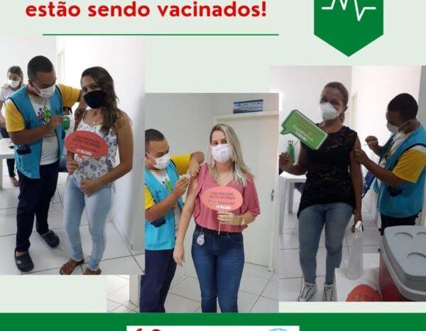 Profissionais da Educação começam a ser vacinados contra a Covid-19 em São José dos Cordeiros
