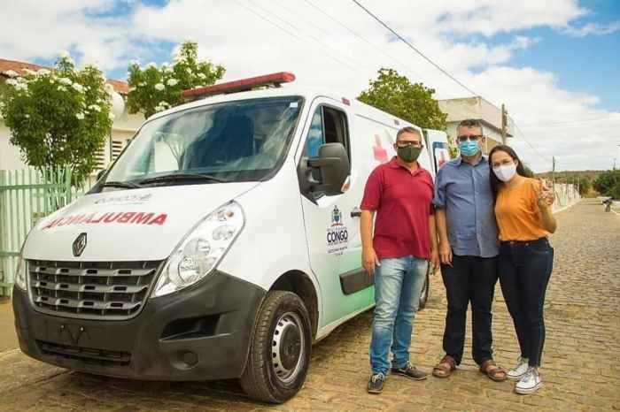 Deputado federal Gervásio Maia destina ambulância para cidade do Cariri