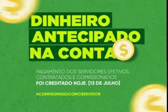 Prefeitura de Ouro Velho antecipa pagamento dos servidores referente ao mês de julho