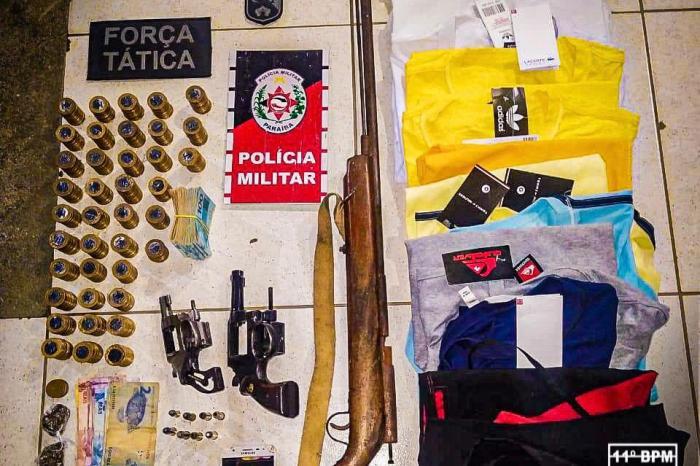 11° Batalhão da Polícia Militar prende acusado de arrombamentos e assaltos a comércios, em Monteiro