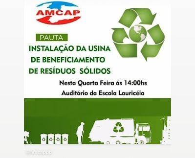 AMCAP realiza reunião para discutir implantação de usina de resíduos sólidos em Monteiro