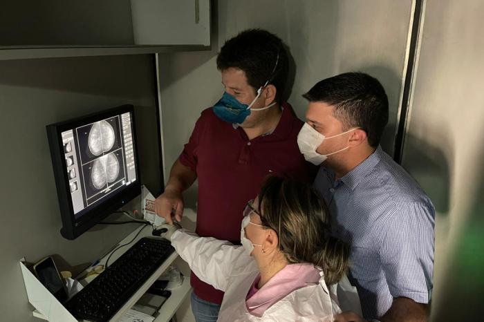 Prefeito de Ouro Velho acompanha lançamento do mutirão de exames de mamografias