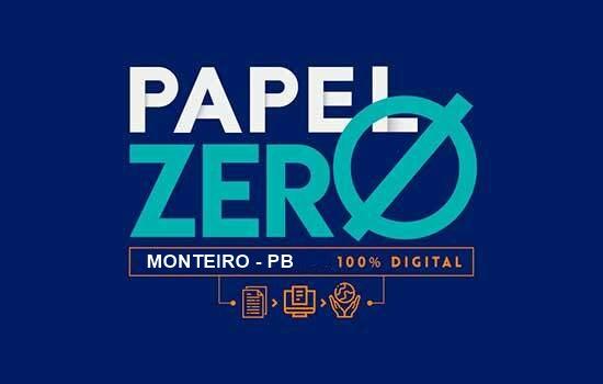 """CIDADE DIGITAL: Monteiro inicia implantação do projeto """"Cidade Digital - Papel Zero"""""""
