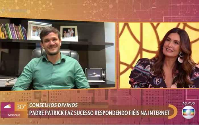 Convidada questiona se padre é 'bom de cama' e surpreende Fátima Bernardes com atrevimento