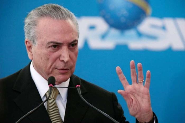 Temer diz não acreditar em nova crise entre Poderes provocada por Bolsonaro