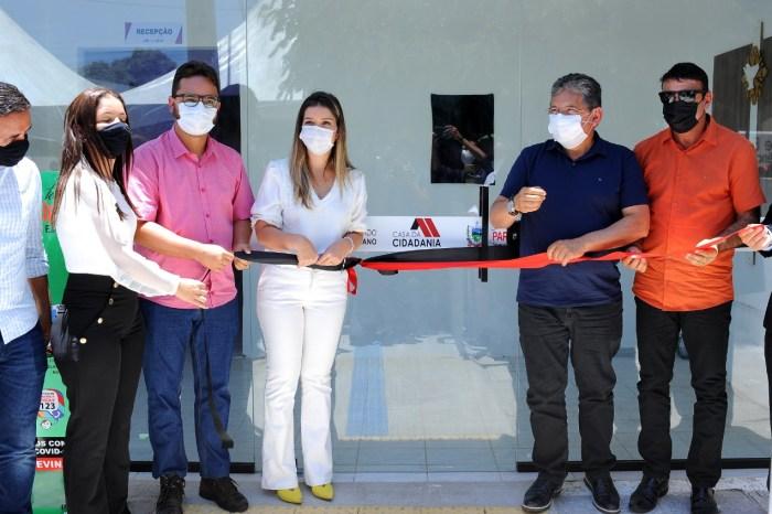 Prefeita Anna Lorena e Tibério Limeira inauguram Casa da Cidadania em Monteiro
