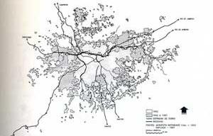 Metropolitan area of São Paulo (1962-1987) [VILLAÇA, Flavio, 2001]