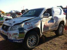 Aquest és l'aspecte del cotxe de Foj després de la segona etapa // Foj Motorsport Coopertires