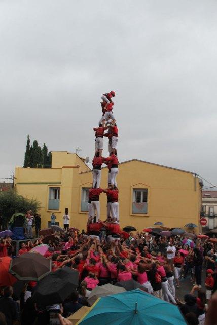 Després d'un intent fallit, els Xicots de Vilafranca han pogut descarregar el 4 de 8 // Jordi Julià