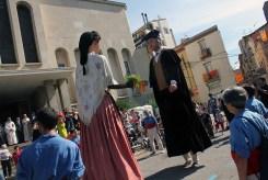 Els GegantsVells a plaça de l'Església // Jose Polo