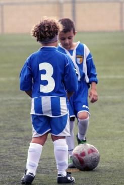 Jugadors de l'At Incresa a l'inici del partit // Jose Polo
