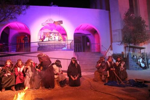 El pessebre vivent de l'església // Jordi Julià