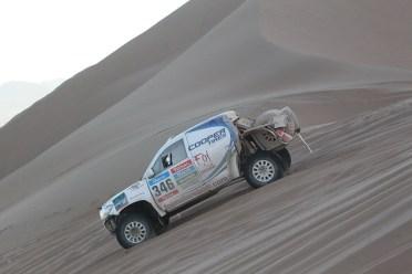 Foj durant la quarta etapa del Dakar // Foj Motorsport Coopertires
