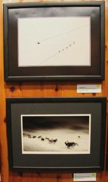 La fotografia guanyadora (superior) i l'accèsit (inferior) en la categoria d'esports de muntanya // David Guerrero