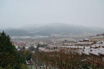 Els terrats del carrer Esperanto, dels més afectats per la nevada // Elisenda Colell