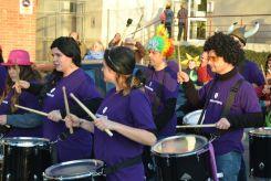El grup Dimonis Molins, marcant el ritme // Elisenda Colell