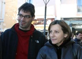 Carme Forcadell acompanyada del molinenc Ignasi Termes, membre del secretariat nacional de l'ANC // Jose Polo