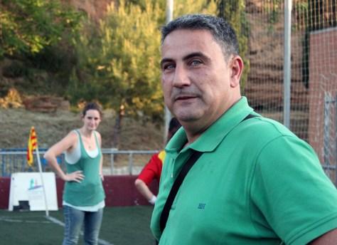 Carlos Tregón, entrenador del Molins de Rei CF // David Polo