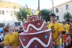 El pastís dels 30 anys tenia dues gralles a sobre // Jordi Julià