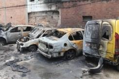 Els quatre vehicles afectats // Jordi Julià