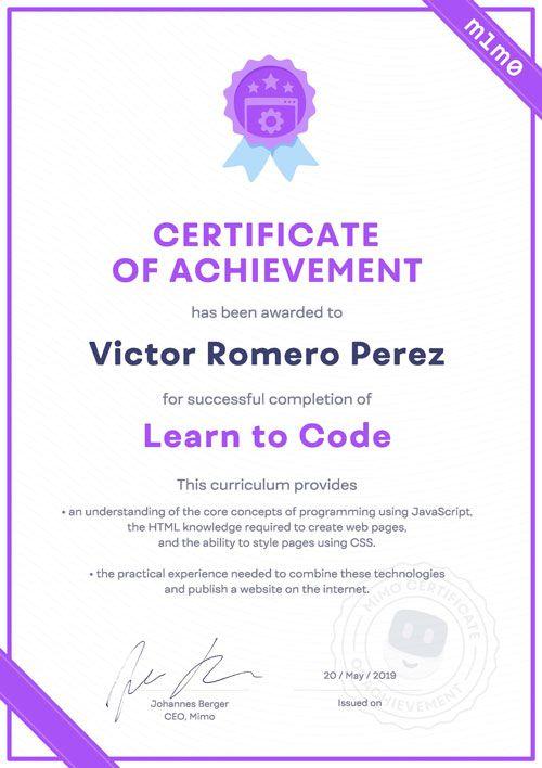 Certificado Mimo - LTC