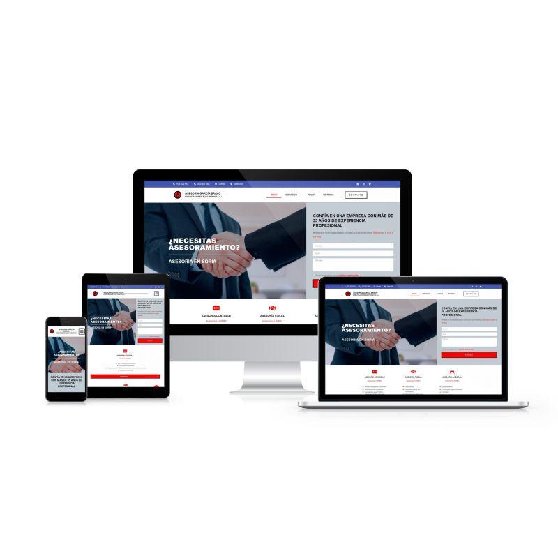 Diseño y desarrollo web para ASESORÍA GARCÍA BRAVO