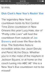 New Year's Eve in New Orleans.