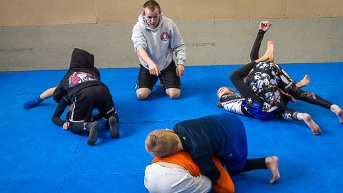 griff instructing in his kids martial arts class