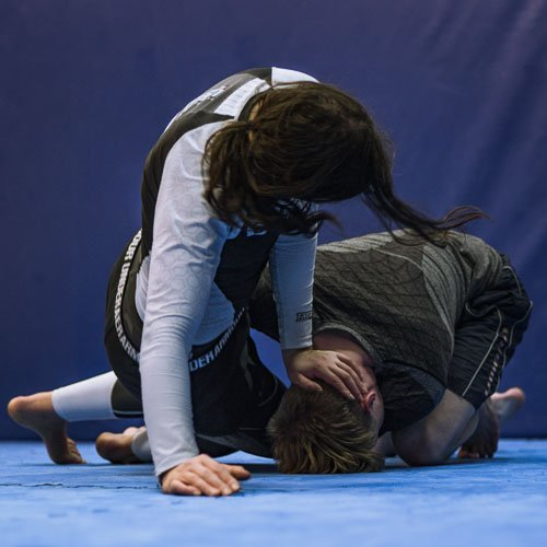 Lucie stuffs the takedown in our Manchester based BJJ class
