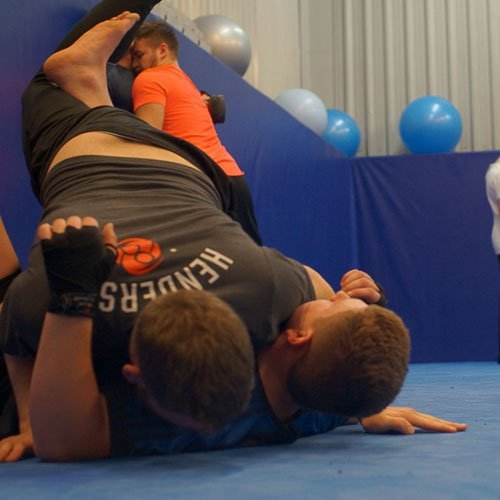 Kyle gets a takedown in our Manchester Wrestling class