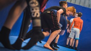 Kids Martial Arts class in full swing