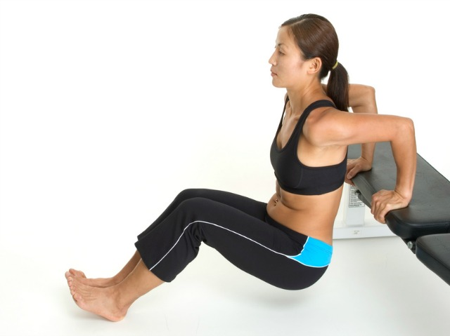 Triceps dips are efficient arm toners