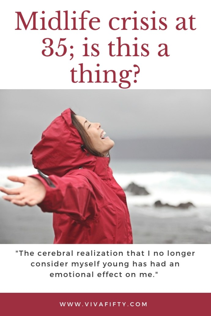 The cerebral realization that I no longer consider myself young has had an emotional effect on me. #midlife #crisis #thirties