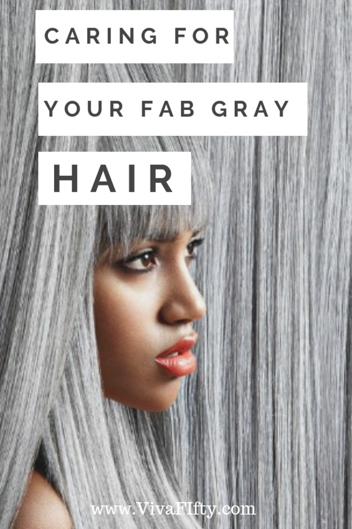 If you've decided to give up the dye and embrace your new gray or white tresses, you may be dealing with some hair care challenges you've never faced before. Of course you want your newly hued 'do to be chic rather than drab, but you may need to shake up your routine with a few new techniques to keep your gray hair looking shiny, lustrous and well-maintained. Here's a quick primer to help get you on the right track. #gray #grayhair #gray #midlife