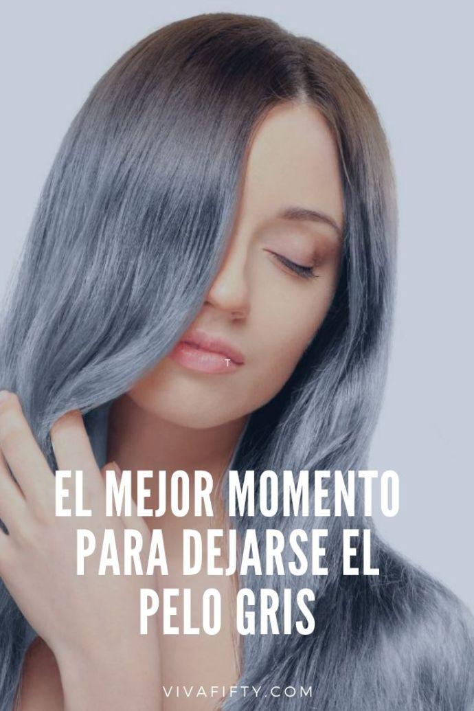 Dejarse el pelo gris es una opción que atrae cada vez a mujeres más jóvenes. Te contamos cómo conseguirlo si te animas.  #cabello #pelo #pelogris #canas
