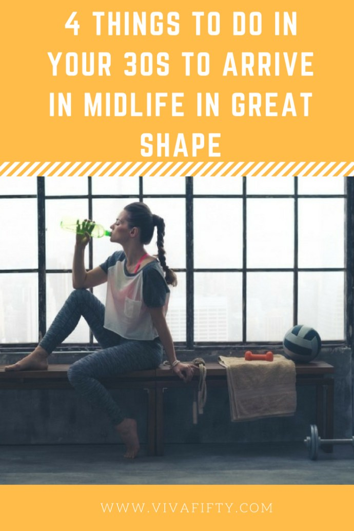 Thankfully, in your thirties you have plenty of time to get yourself on track to be in tip-top shape as you get closer to 50. Here are some things you can do now to get your body and mind in stellar condition for later years. Check it out. #over30 #thirties #fitness #selfcare #midlife